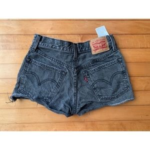 Levi's Black Cut Off Jean Shorts